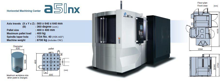 horizontal machining centres hmc makino a51nx romania rh topmetrology ro Makino Horizontal Mill Makino A88 Specification